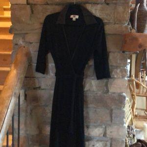 Size 10 black wrap sweater dress like new